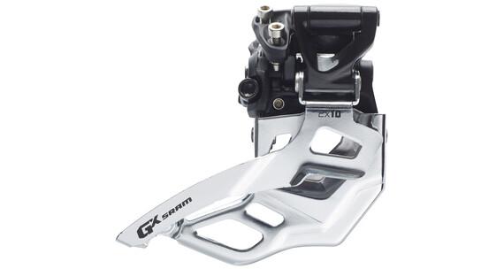 SRAM GX Umwerfer 2x10-fach Mid Direct Mount Top Pull 38/36 Zähne schwarz/silber